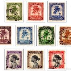Stamps - CONGO BELGA.- SELLOS DE 1942, EN USADOS - 114063163