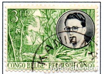 CONGO BELGA.- SELLO DE 1955, EN USADO. (Sellos - Extranjero - África - Congo)