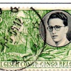 Sellos: CONGO BELGA.- SELLO DE 1955, EN USADO.. Lote 114065583