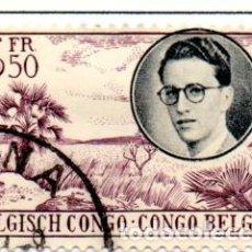 Sellos: CONGO BELGA.- SELLO DE 1955, EN USADO.. Lote 114065651