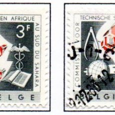 Sellos: CONGO BELGA.- SELLOS DEL AÑO 1960, EN USADOS.. Lote 114069655
