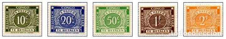 CONGO BELGA.- SELLOS DEL AÑO 1943, EN NUEVOS. (Sellos - Extranjero - África - Congo)
