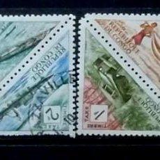 Stamps - Congo - 8 sellos- 2 esquinas tocadas - 120234591