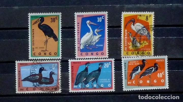 CONGO- 6 SELLOS (4 NUEVOS, 2 USADOS ) (Sellos - Extranjero - África - Congo)
