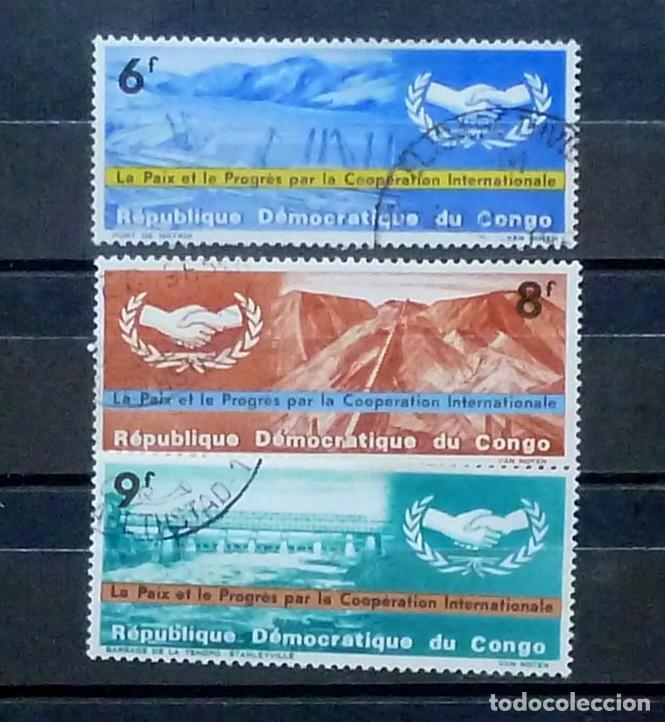 CONGO -3 SELLOS USADOS (Sellos - Extranjero - África - Congo)