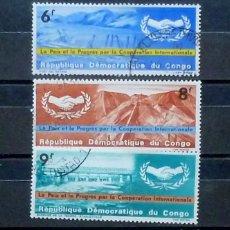Stamps - Congo -3 sellos usados - 120235539