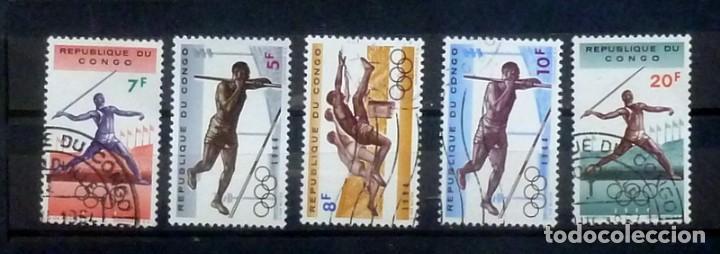 CONGO - 5 SELLOS DE DEPORTE (Sellos - Extranjero - África - Congo)