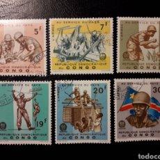 Sellos: REPUBLICA DEL CONGO (EX CONGO BELGA). YVERT 605/10. SERIE COMPLETA USADA. EJÉRCITO. UNIFORMES. Lote 130140676