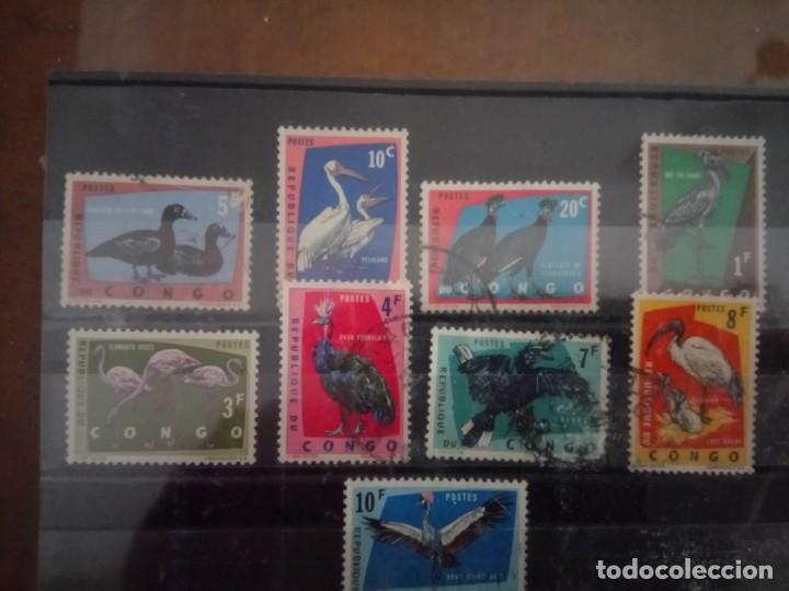 CONGO BELGA, FAUNA, SELLOS DE 1963 (Sellos - Extranjero - África - Congo)