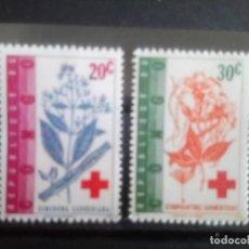 Sellos: CONGO 1963,**CRUZ ROJA. **496/97. Lote 133894878