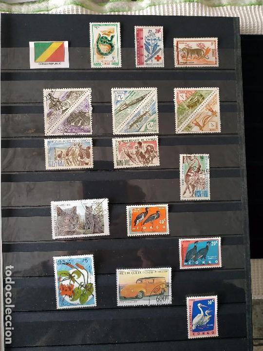 REPUBLICA DEL CONGO BRAZZAVILLE 15 SELLOS (Sellos - Extranjero - África - Congo)