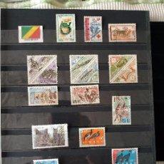 Sellos: REPUBLICA DEL CONGO BRAZZAVILLE 15 SELLOS. Lote 139688290