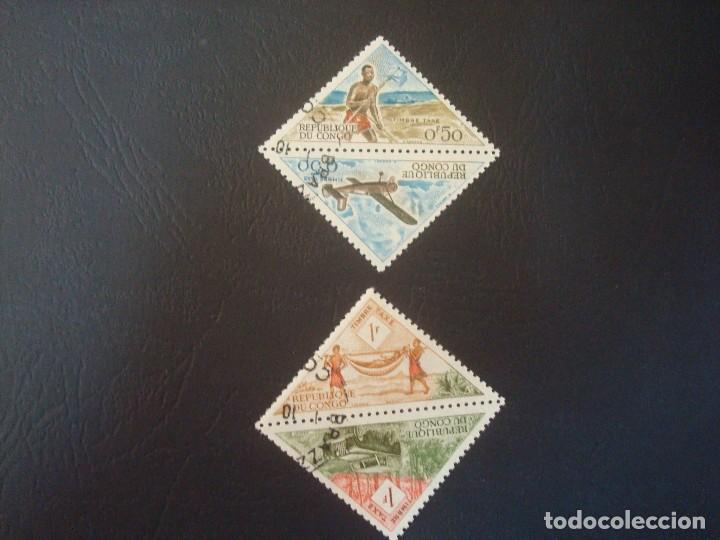 Sellos: CONGO-LOTE DE 8 SELLOS TRIANGULARES - Foto 2 - 140477986