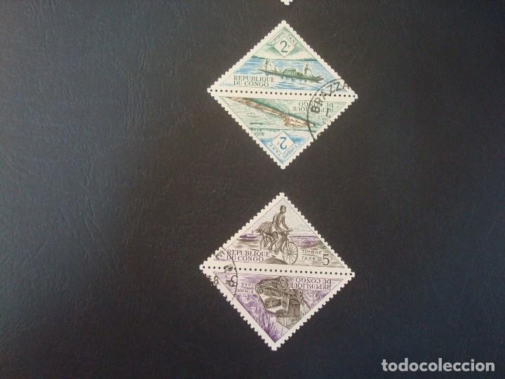 Sellos: CONGO-LOTE DE 8 SELLOS TRIANGULARES - Foto 3 - 140477986