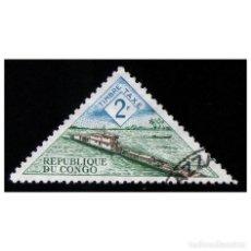 Sellos: CONGO, REPÚBLICA 1961. MI P6, YT T39. TRANSPORTES. BARCOS. BARCAZAS. USADO. Lote 141247926