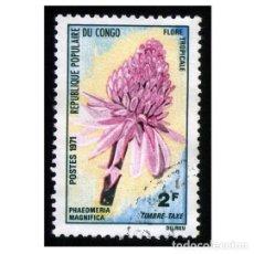 Sellos: CONGO, REPÚBLICA 1971. MI P14, YT T47. FLORES TROPICALES (PHAEOMENIA MAGNIFICA) USADO. Lote 141248142