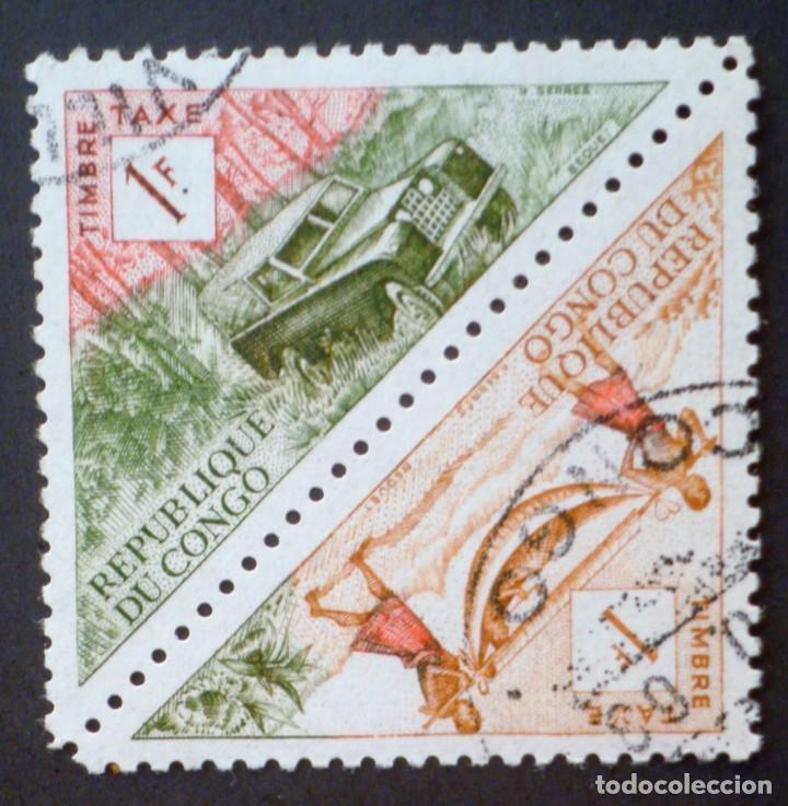 1961 FRANQUEO REPÚBLICA DEL CONGO TRANSPORTES (Sellos - Extranjero - África - Congo)