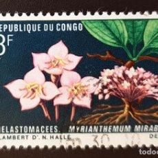 Sellos: REPUBLICA DEL CONGO - FLORA Y FAUNA - MYRIANTHEMUM MIRABILE - 3 FR - 1970. Lote 147502478