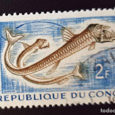 Sellos: REPUBLICA DEL CONGO - TROPICAL FISH - CHAULIODUS SLOANI.- 2 FR - 1961. Lote 147502858