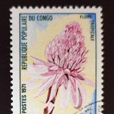 Sellos: REPUBLICA POPULARE DU CONGO - FLORE TROPICALE - 5 F - 1971. Lote 147503350