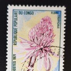 Sellos: REPUBLICA POPULARE DU CONGO - FLORE TROPICALE - 5 F - 1971. Lote 147503410