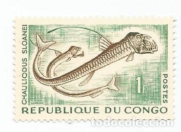 LOTE DE 10 SELLOS USADOS REPUBLICA DEL CONGO 1961 Y 1966- DOS SERIES COMPLETAS Y EN MUY BUEN ESTADO (Sellos - Extranjero - África - Congo)