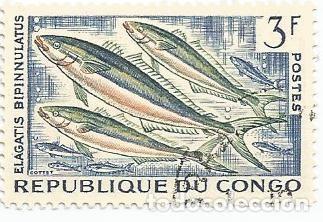 Sellos: LOTE DE 10 SELLOS USADOS REPUBLICA DEL CONGO 1961 Y 1966- DOS SERIES COMPLETAS Y EN MUY BUEN ESTADO - Foto 3 - 156712994
