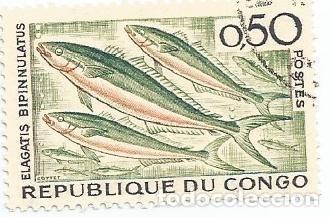 Sellos: LOTE DE 10 SELLOS USADOS REPUBLICA DEL CONGO 1961 Y 1966- DOS SERIES COMPLETAS Y EN MUY BUEN ESTADO - Foto 6 - 156712994
