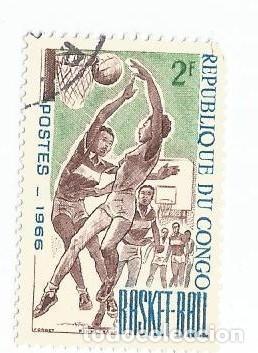 Sellos: LOTE DE 10 SELLOS USADOS REPUBLICA DEL CONGO 1961 Y 1966- DOS SERIES COMPLETAS Y EN MUY BUEN ESTADO - Foto 7 - 156712994
