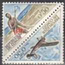Sellos: CONGO - UN SELLO - IVERT #T-34/T-35 -***CORREOS - CORREDOR Y AVION***- AÑO 1961 - NUEVO. Lote 158267050