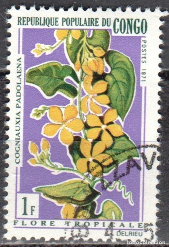 CONGO - UN SELLO - IVERT #283 -***F L O R A***- AÑO 1971 - NUEVO CON GOMA MATASELLADO (Sellos - Extranjero - África - Congo)