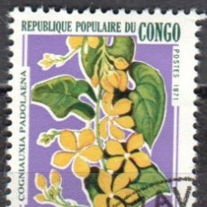 Stamps - CONGO - UN SELLO - IVERT #283 -***F L O R A***- AÑO 1971 - NUEVO CON GOMA MATASELLADO - 158267678