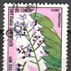 Stamps - CONGO - UN SELLO - IVERT #T-48 -***FLORES TROPICALES***- AÑO 1971 - NUEVO CON GOMA MATASELLADO - 158267954