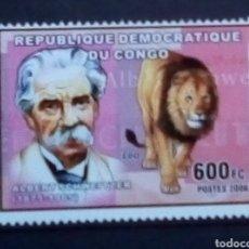 Selos: ALBERT EINSTEIN SELLO NUEVO DE REPÚBLICA DEL CONGO. Lote 176235109