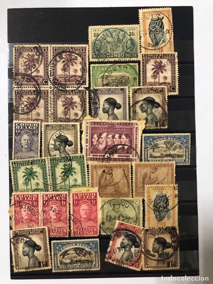 Sellos: LOTE DE 114 SELLOS DEL CONGO BELGA. - Foto 2 - 178093559