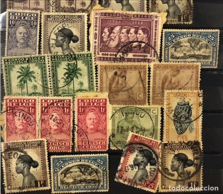 Sellos: LOTE DE 114 SELLOS DEL CONGO BELGA. - Foto 4 - 178093559