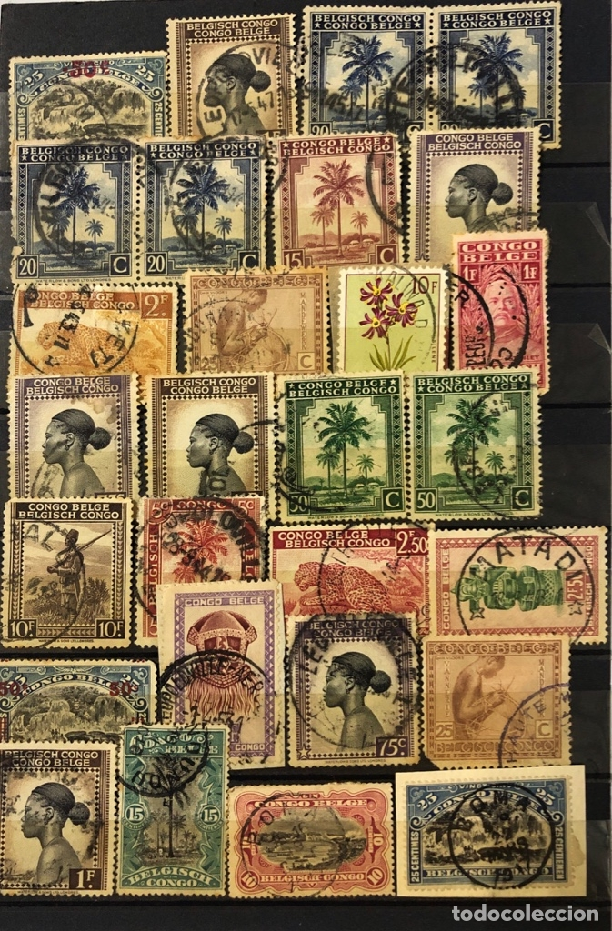 Sellos: LOTE DE 114 SELLOS DEL CONGO BELGA. - Foto 5 - 178093559