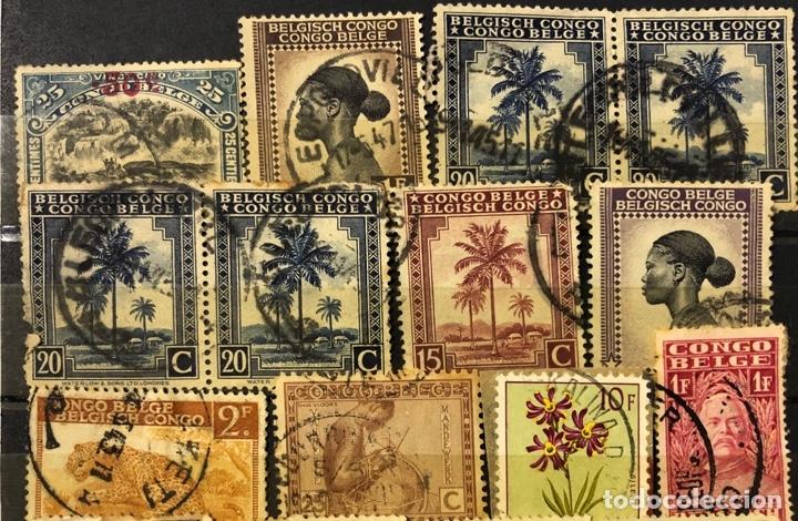 Sellos: LOTE DE 114 SELLOS DEL CONGO BELGA. - Foto 6 - 178093559