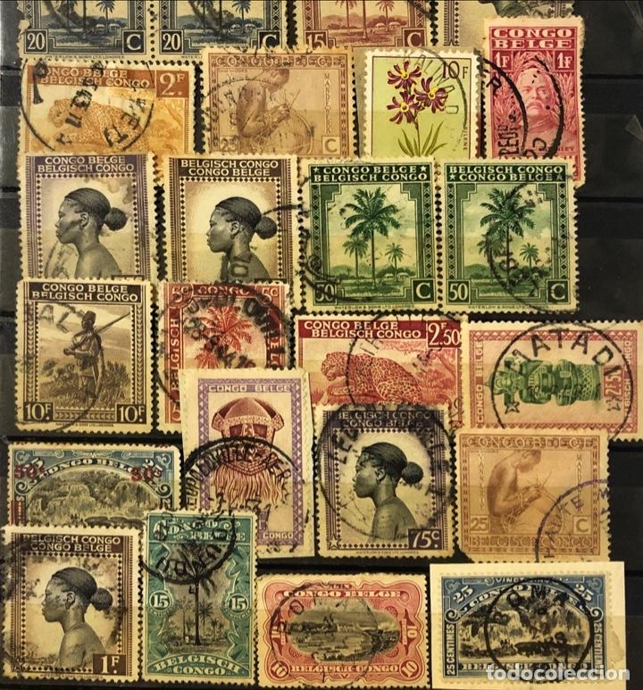 Sellos: LOTE DE 114 SELLOS DEL CONGO BELGA. - Foto 7 - 178093559