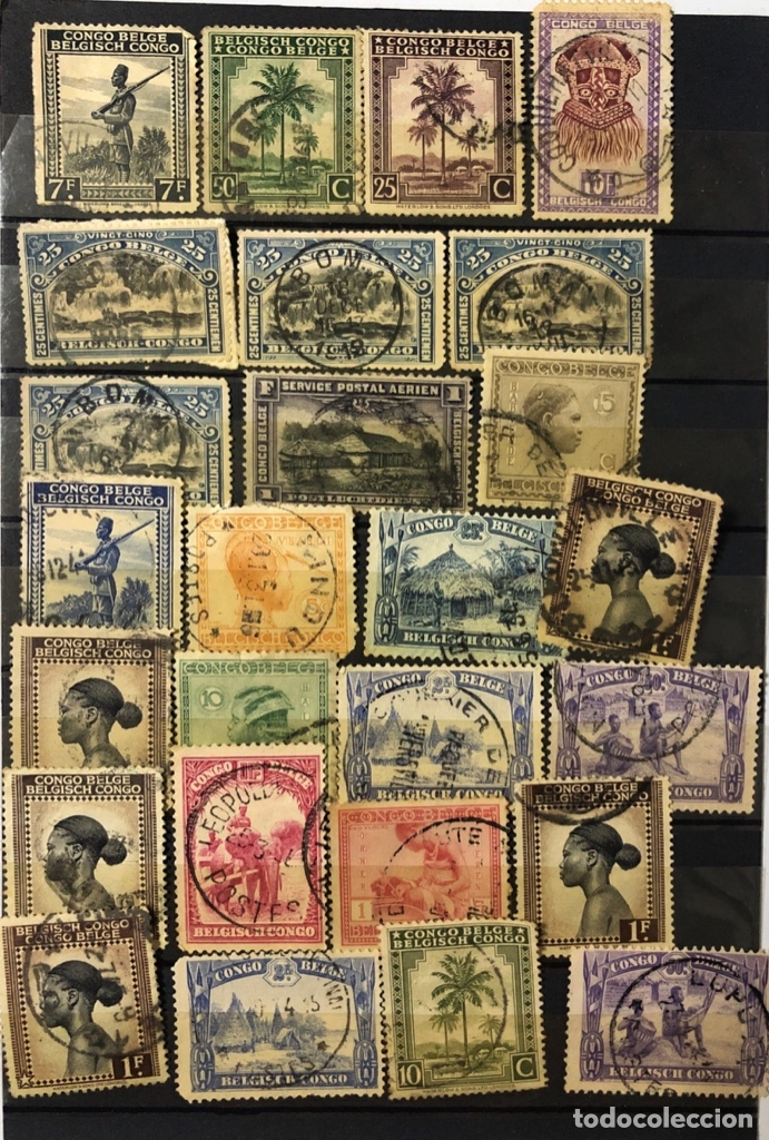 Sellos: LOTE DE 114 SELLOS DEL CONGO BELGA. - Foto 8 - 178093559