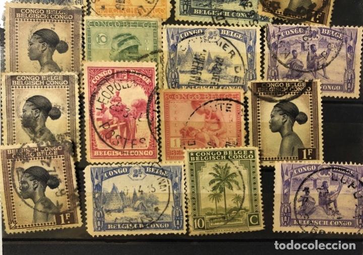 Sellos: LOTE DE 114 SELLOS DEL CONGO BELGA. - Foto 11 - 178093559
