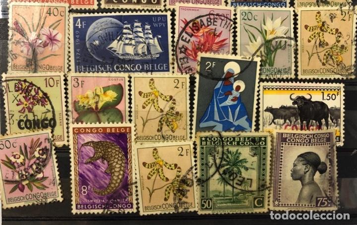 Sellos: LOTE DE 114 SELLOS DEL CONGO BELGA. - Foto 13 - 178093559