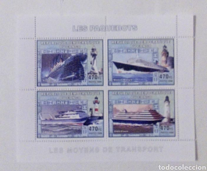 CRUCEROS CELEBRES TITANIC... HOJA BLOQUE DE SELLOS NUEVOS DE REPÚBLICA DEL CONGO (Sellos - Extranjero - África - Congo)