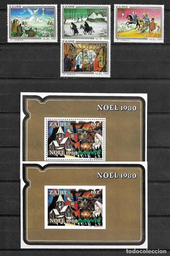 ZAIRE,1980,NAVIDAD,YVERT 1016-1019 Y HB 24,NUEVOS,MNH** (Sellos - Extranjero - África - Congo)