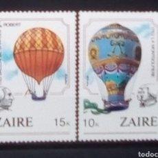 Sellos: ZAIRE CONGO GLOBOS AEROSTÀTICOS SERIE DE SELLOS NUEVOS. Lote 182971207