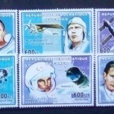 Sellos: REPÚBLICA DEL CONGO CELEBRES DE LA AERONÁUTICA SERIE COMPLETA DE SELLOS NUEVOS. Lote 182972577