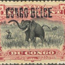 Sellos: CONGO BELGA. MH *YV 36A. 1908. 1 FR CARMÍN. SOBRECARGA A MANO. MAGNIFICO. YVERT 2013: 60 EUROS. REF. Lote 183120432