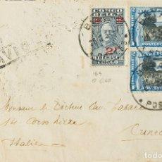 Sellos: CONGO BELGA. SOBRE YV 165, AÉREO 3(2). 1932. 2 F SOBRE 1´60 F PIZARRA Y 2 F AZUL Y NEGRO, DOS SELLO. Lote 183138791