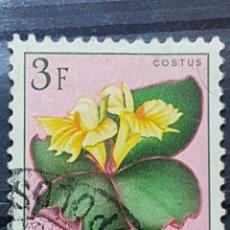 Sellos: CONGO BELGA_SELLO USADO_COSTUS SPECTABILIS FLORES_YT-BE-CD 314 AÑO 1952 LOTE 7696. Lote 194745803
