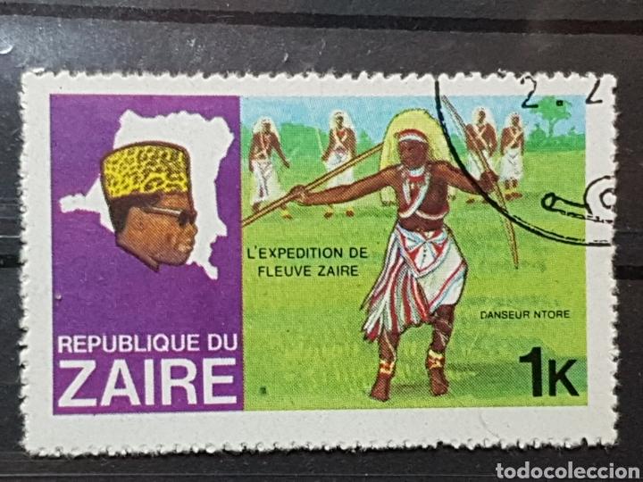 ZAIRE_SELLO USADO_BAILE NTORE RIO ZAIRE 1K_YT-CD 926 AÑO 1979 LOTE 7733 (Sellos - Extranjero - África - Congo)